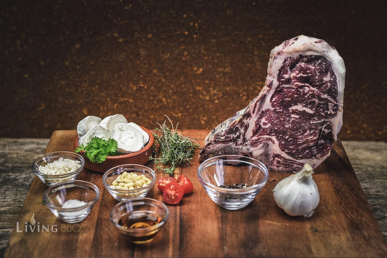 Zutaten Ziegenkäse und Dry Aged Steak